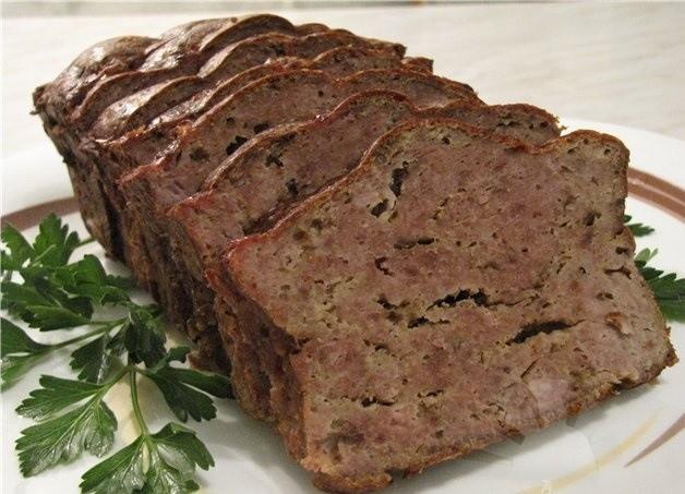 мясной хлеб с оливками