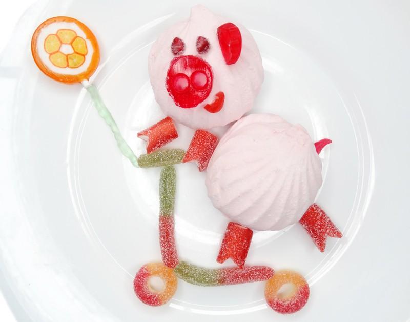 десерт новогодний свинья