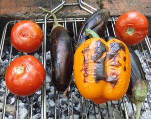 Овощи-гриль на углях