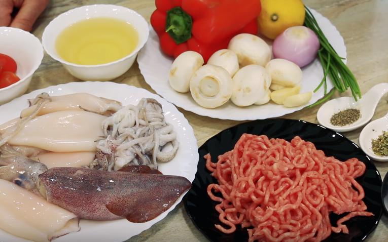 Рецепт фаршированных кальмаров пошагово