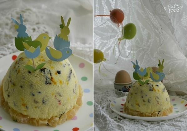 Творожный десерт с шафраном (пасха)