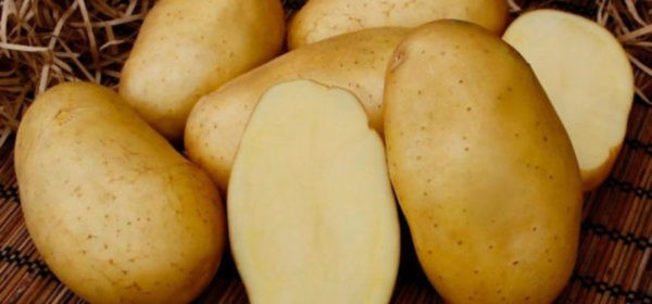 желтый картофель