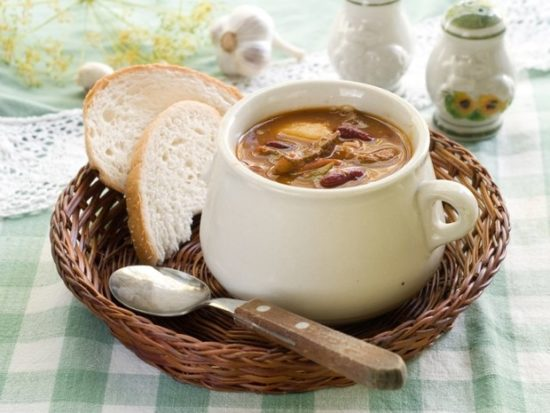 Английский фасолевый суп