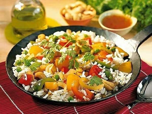 Рис с кориандром и сладким перцем