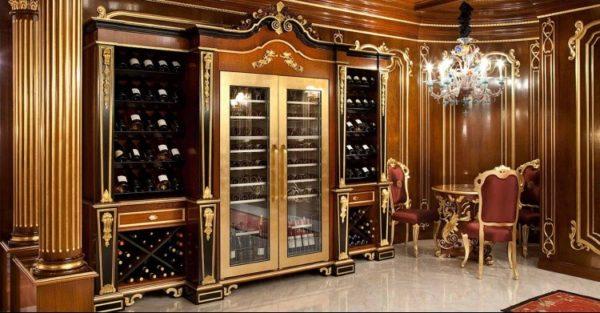 Винные шкафы в интнрьере