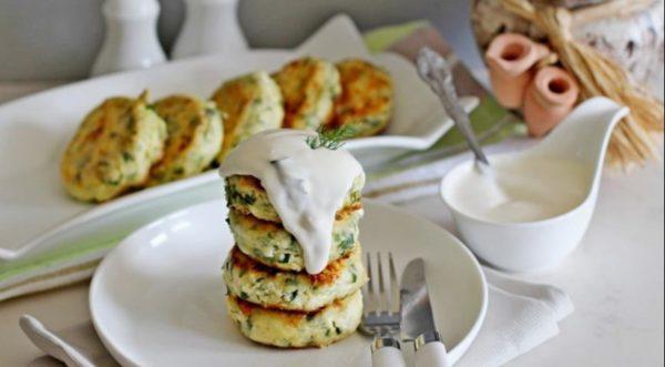 сырники с зеленым луком и сыром
