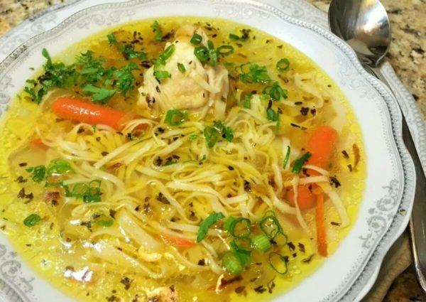 Домашний суп-лапша с курицей