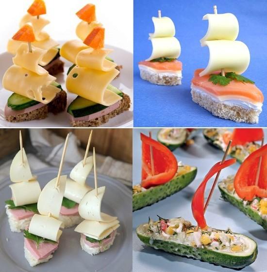 Детские бутерброды «Кораблики»