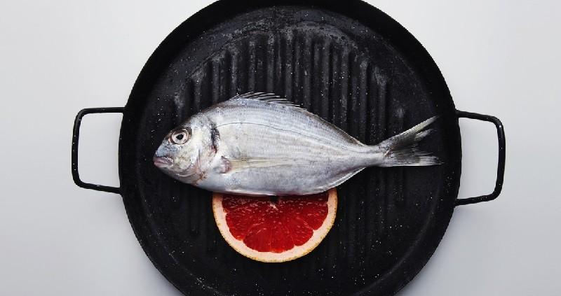 Грейпфрут и рыба
