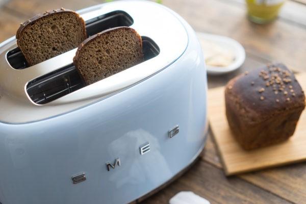 Бородинский хлеб обжарьте в тостере