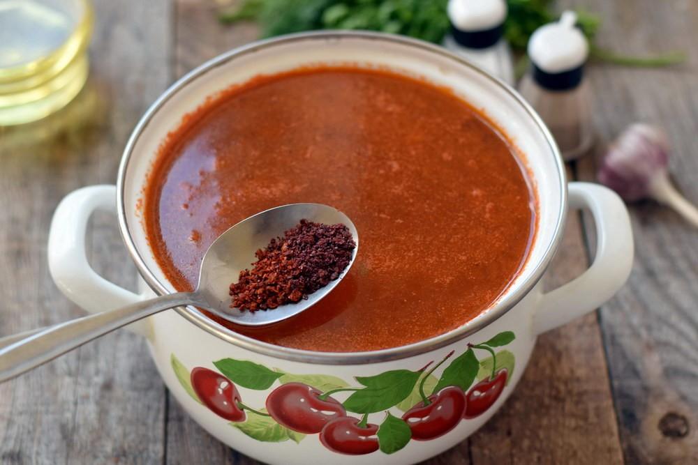 Добавить зажарку в суп