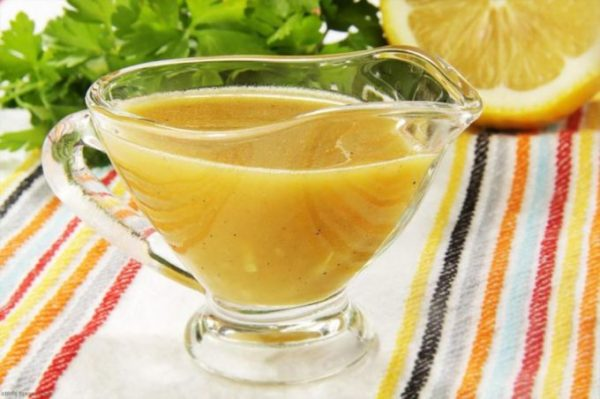 Уксусный соус для салата из запеченных лимонов