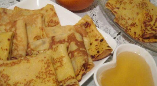 Тыквенно-апельсиновые блины с ароматом имбиря