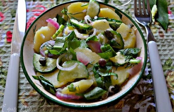 Салат с черемшой по-татарски