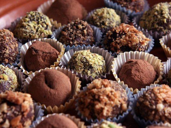 Веганские конфеты трюфели